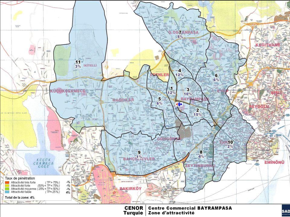 8 BAYRAMPASA ALIŞVERİŞ MERKEZİ – MÜŞTERİ ANKET ÇALIŞMASI - 2009 Sommaire MAP