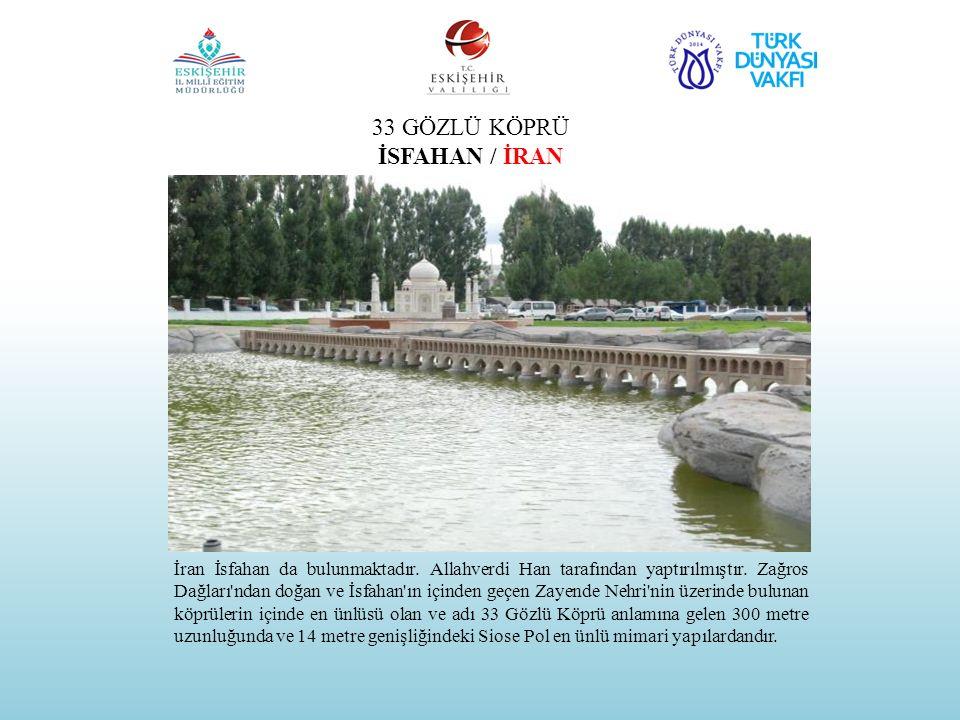 HOCA AHMED YESEVİ MEDRESESİ VE TÜRBESİ ÇİMKENT / KAZAKİSTAN Büyük Türk düşünürü AHMED YESEVl 1103-1166/7 yılları arasında yaşadı.