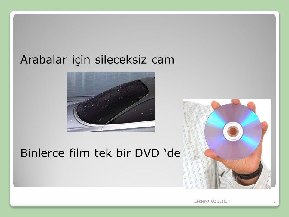 Arabalar için sileceksiz cam Binlerce film tek bir DVD 'de 9Zekeriya ÖZGÜNER
