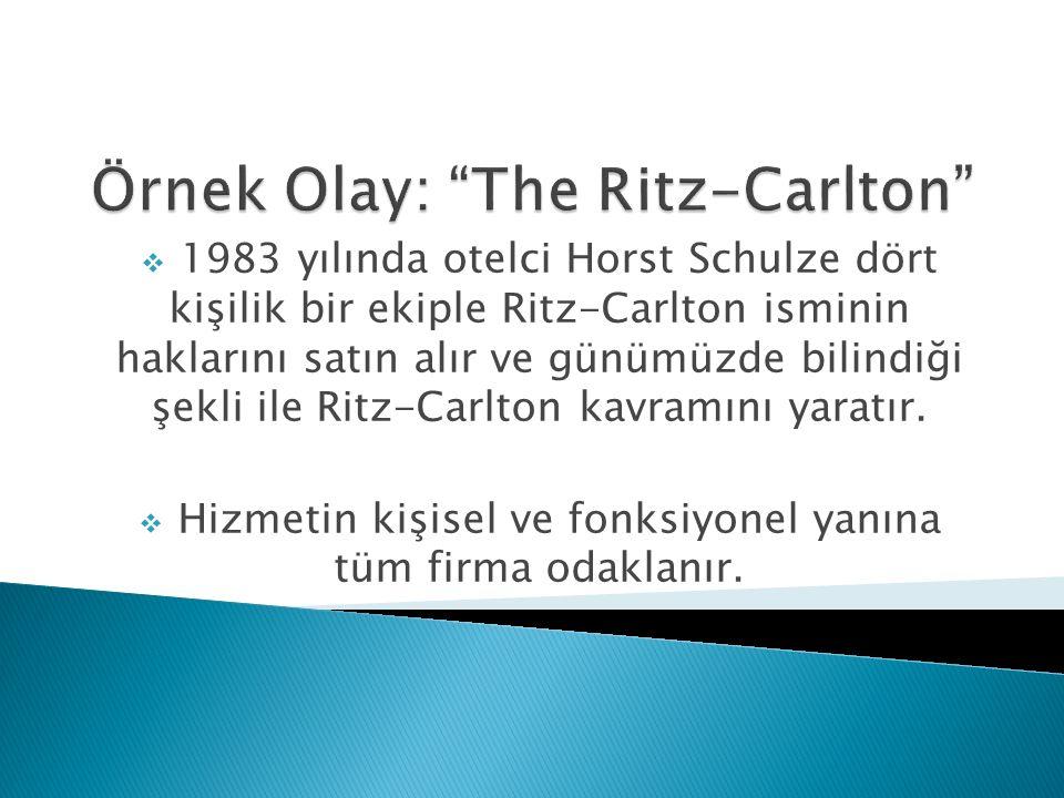  1983 yılında otelci Horst Schulze dört kişilik bir ekiple Ritz-Carlton isminin haklarını satın alır ve günümüzde bilindiği şekli ile Ritz-Carlton ka