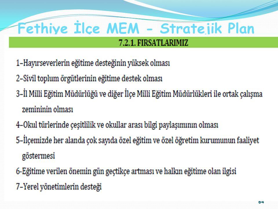 Fethiye İlçe MEM - Stratejik Plan 64