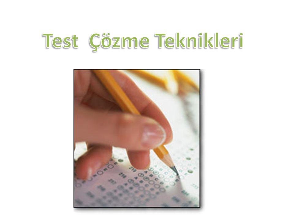 Yerleştirme sınavları test tekniğine dayalı sınavlardır.