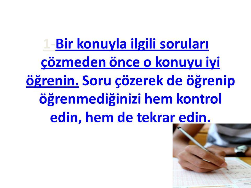 - -Uzun paragraftan oluşan soruları uzun soru zordur yargısında bulunarak o soruyu okumadan geçmeyin.