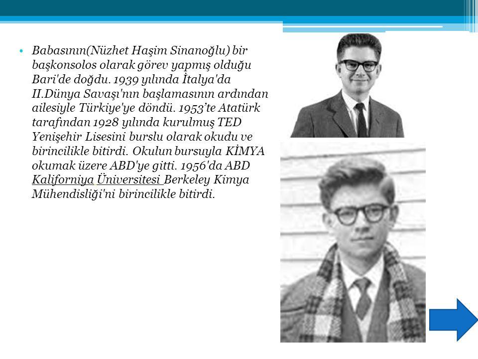 PROF. DR. Oktay Sinanoğlu Doğum : 25 Ağustos 1935 (80 yaşında) Bari, İtalya Milliyeti: Türk Dalı : Kimya, moleküler biyoloji Çalıştığı yerler: Yale Ün