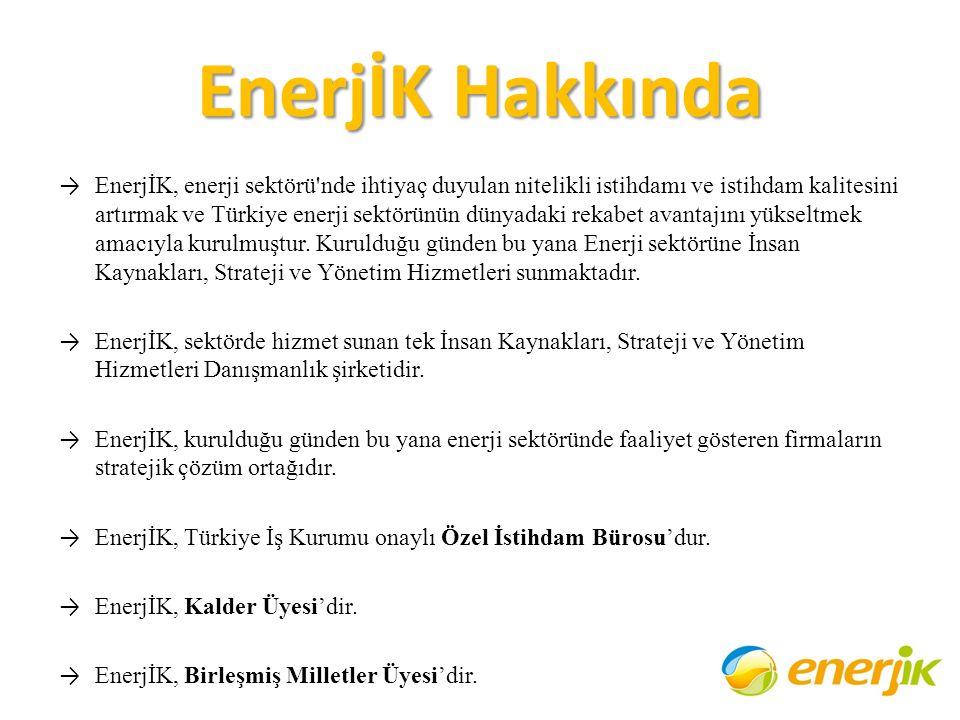 EnerjİK Hakkında → EnerjİK, enerji sektörü'nde ihtiyaç duyulan nitelikli istihdamı ve istihdam kalitesini artırmak ve Türkiye enerji sektörünün dünyad