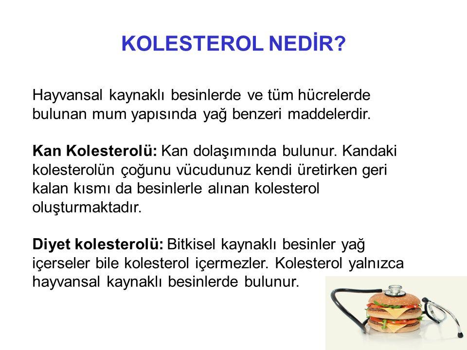 İYİ KOLESTEROL / KÖTÜ KOLESTEROL NEDİR .