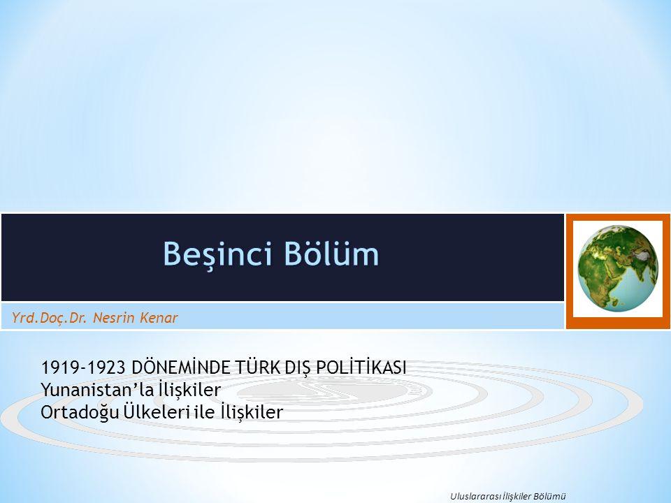 Bunun üzerine Anadolu'da Yunan askeri işgal bölgesinin sınırlandırılacağını İstanbul'a bildirmişlerdir.