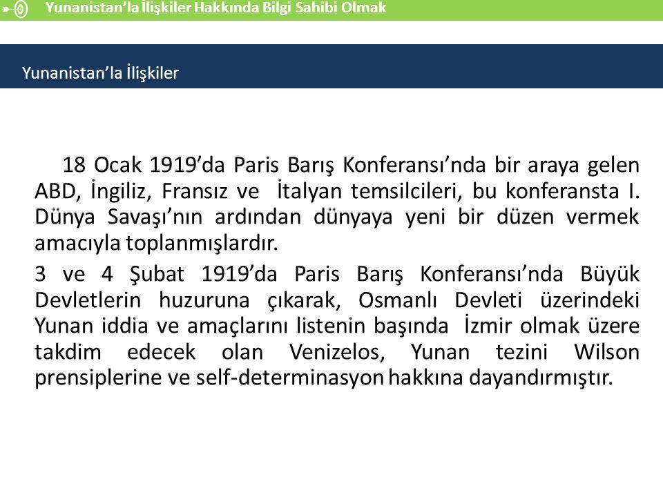 Balkan Savaşları'nda ülkenin sınırlarını oldukça genişleten Venizelos'un bundan sonra ki hedefi Anadolu olmuştur.