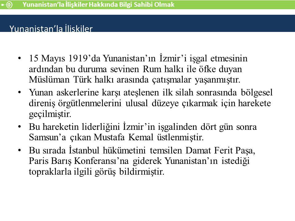 11 ve 17 Haziran 1919 tarihlerinde konferansa iki muhtıra sunan Damat Ferit Paşa bu görüşlerini şöyle dile getirdi: a) Trakya: Bu bölgede barışın korunması, Edirne şehrine karşı girişilmesi olası bir saldırıyı önleyebilecek sınıra sahip olunmasına bağlıdır.