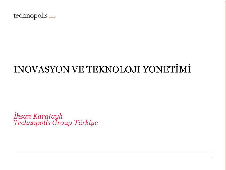 11 octobre 20152 Technopolis Group 1989 yılında kuruldu.