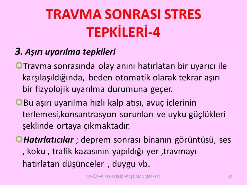 TRAVMA SONRASI STRES TEPKİLERİ-4 3.