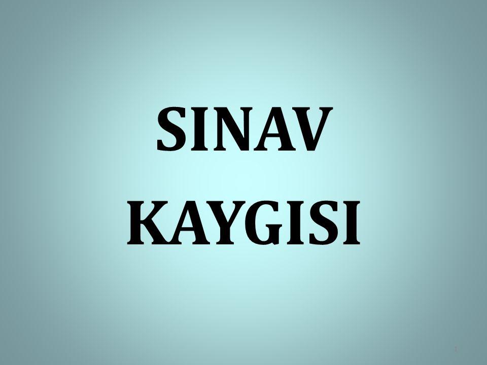 SINAV KAYGISI 1