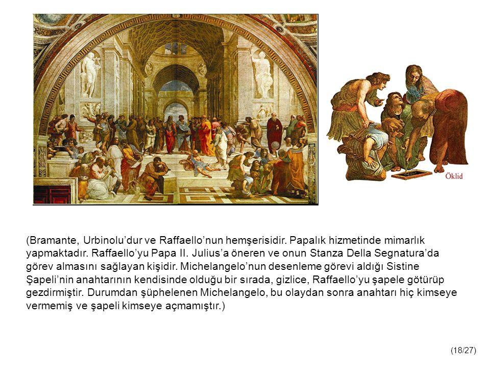 (Bramante, Urbinolu'dur ve Raffaello'nun hemşerisidir.