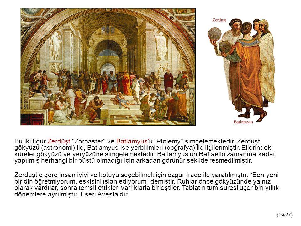 Bu iki figür Zerdüşt Zoroaster ve Batlamyus u Ptolemy simgelemektedir.