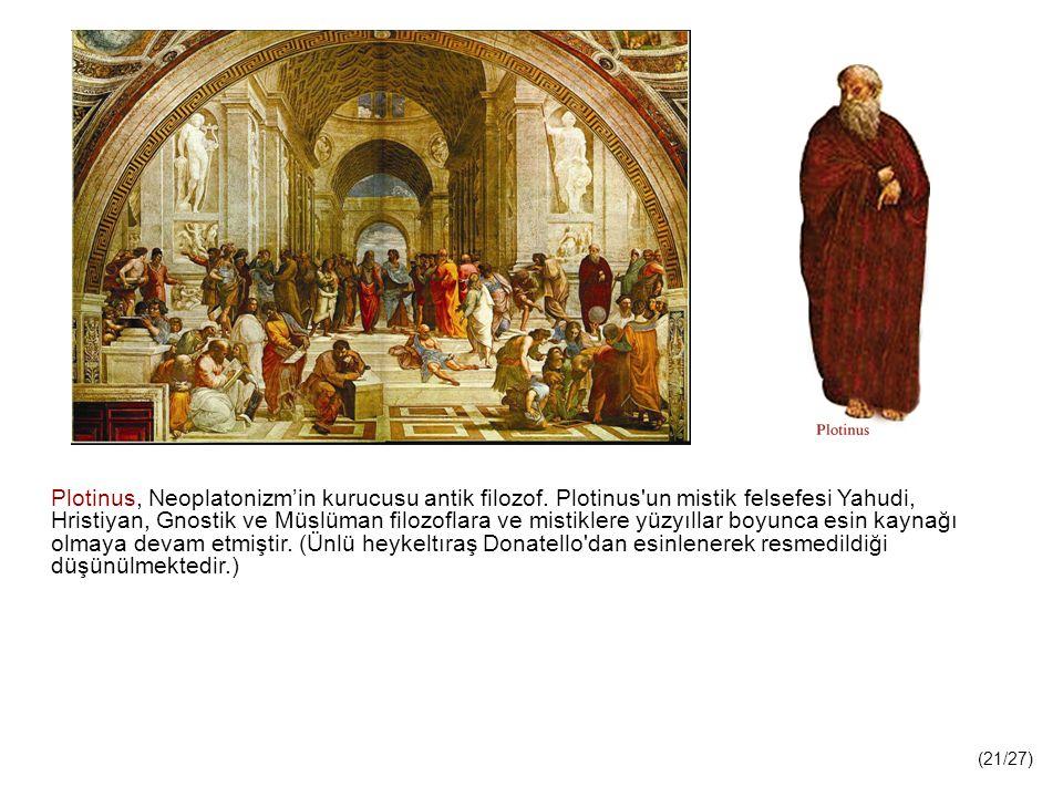 Plotinus, Neoplatonizm'in kurucusu antik filozof.
