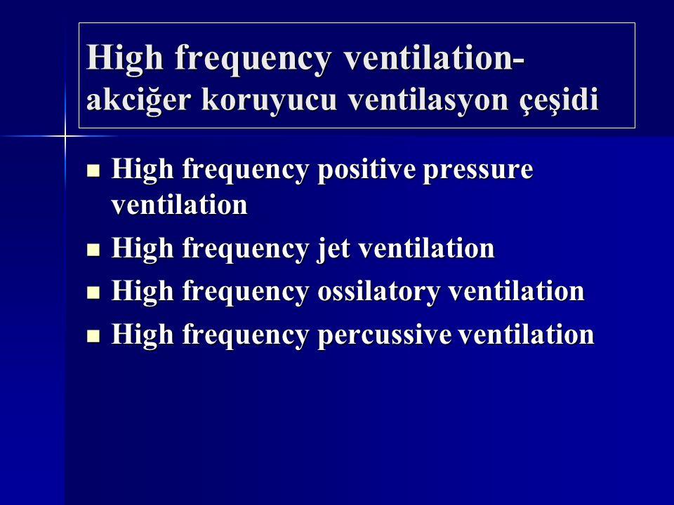 High frequency ventilation- akciğer koruyucu ventilasyon çeşidi High frequency positive pressure ventilation High frequency positive pressure ventilat