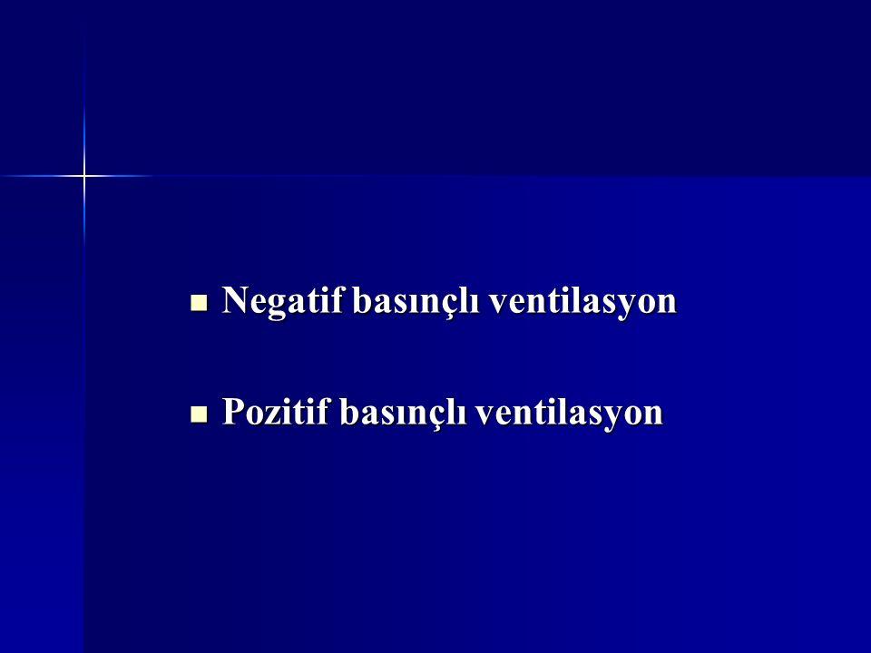 Negatif basınçlı ventilasyon Negatif basınçlı ventilasyon Pozitif basınçlı ventilasyon Pozitif basınçlı ventilasyon