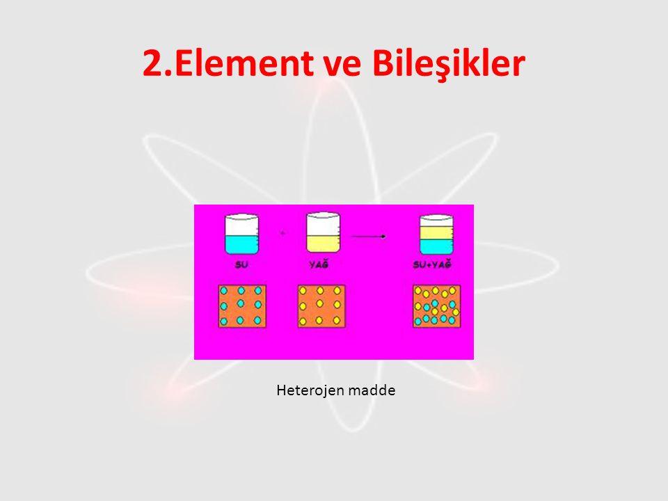 2.Element ve Bileşikler Heterojen madde