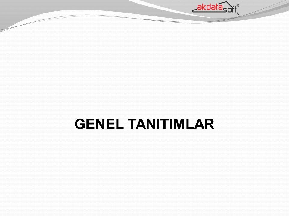 GENEL TANITIMLAR