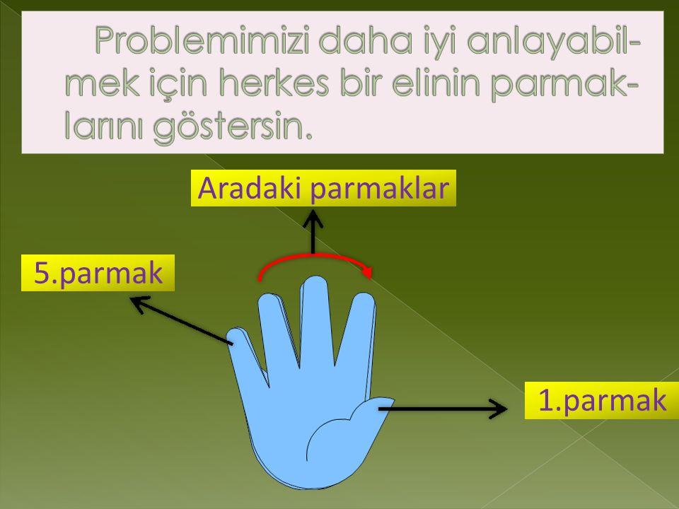 5.parmak 1.parmak Aradaki parmaklar