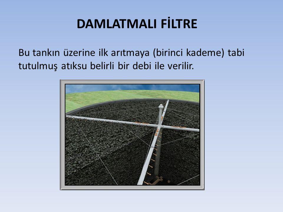 Bu tankın üzerine ilk arıtmaya (birinci kademe) tabi tutulmuş atıksu belirli bir debi ile verilir.