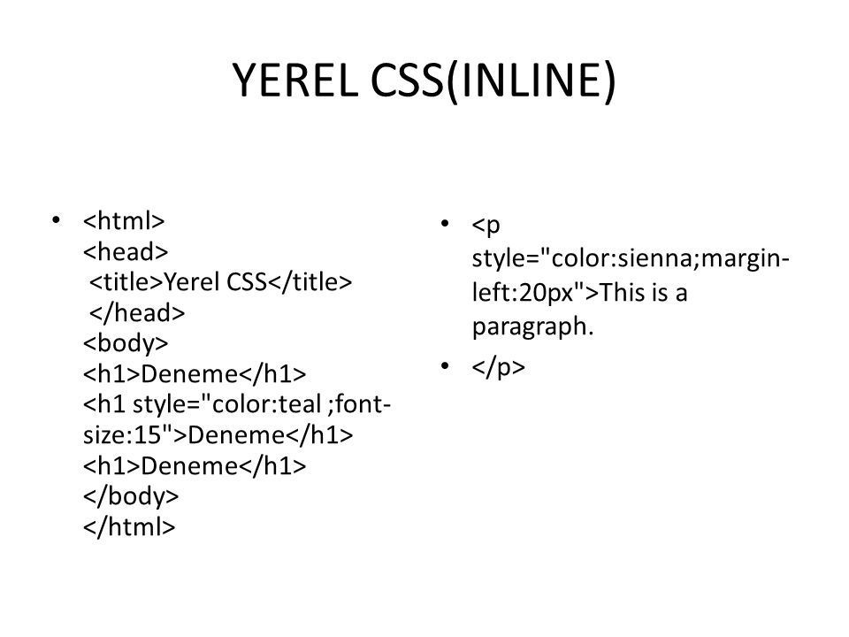 GENEL CSS(INTERNAL) Genel CSS Deneme Deneme Deneme