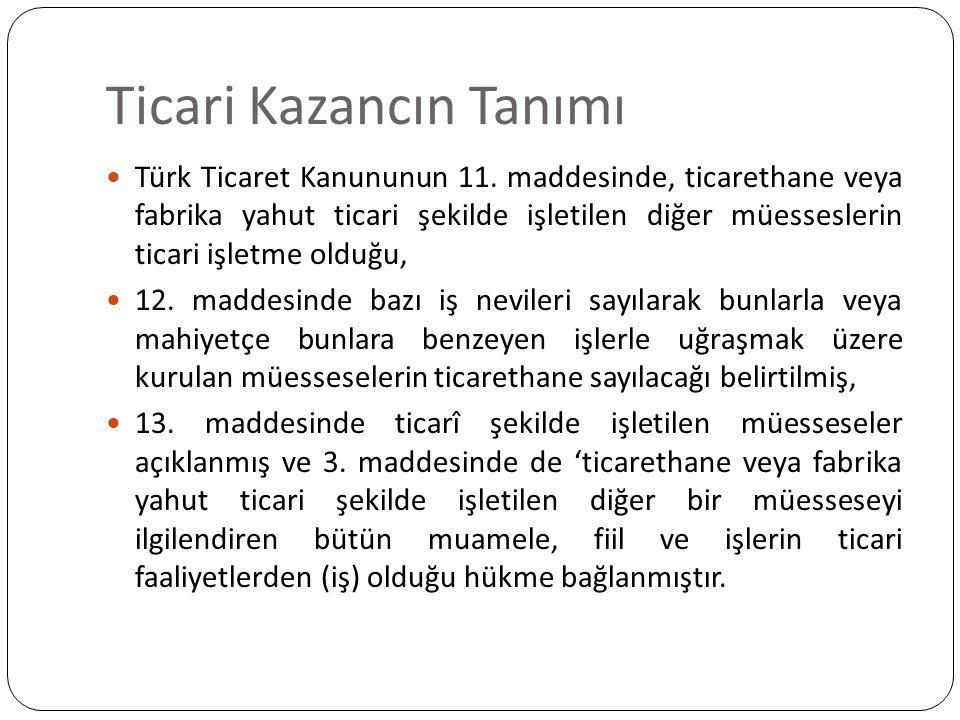 Ticari Kazancın Tanımı Türk Ticaret Kanunu'nda yer alan düzenlemeler çerçevesinde bir faaliyetin ticari faaliyet olarak değerlendirilebilmesi nitelendirilebilmesi için taşıması gereken özellikleri aşağıdaki gibi sıralayabiliriz.