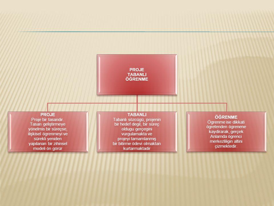  Proje tabanlı öğrenme, ilköğretimin her seviyesinde ve disiplinlerarası buluşma için oldukça uygundur.