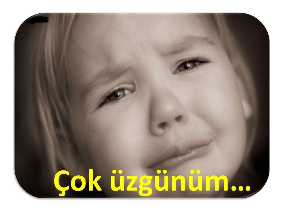 Çok üzgünüm…