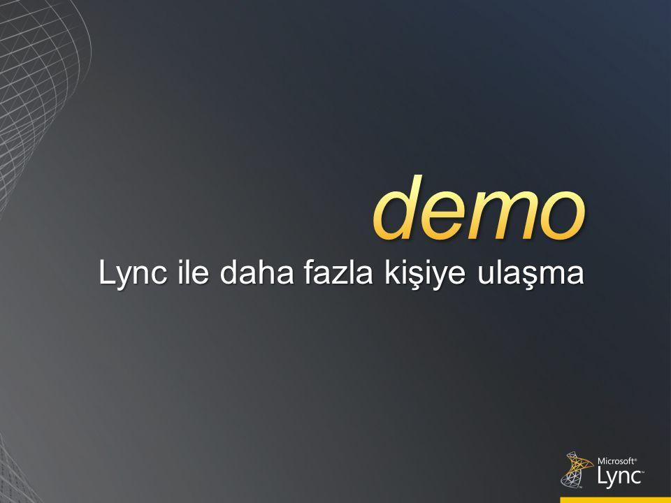 Lync ile daha fazla kişiye ulaşma