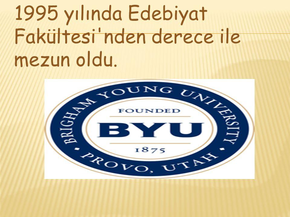 1995 yılında Edebiyat Fakültesi'nden derece ile mezun oldu.