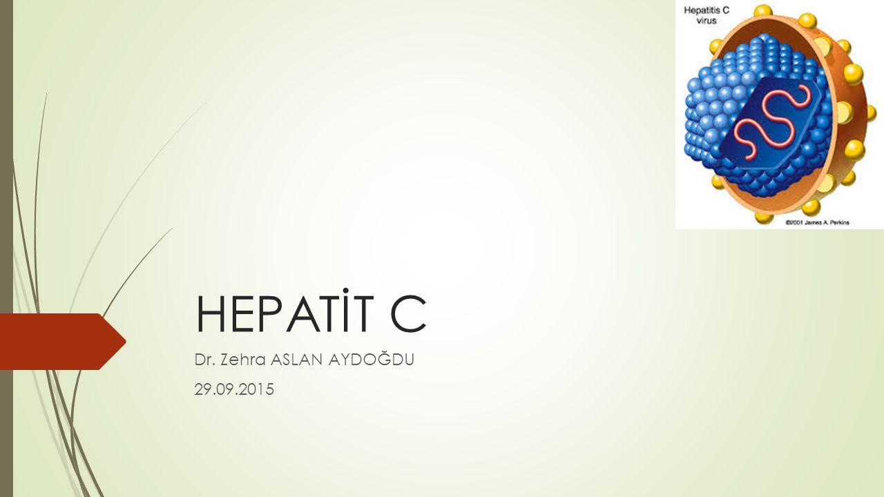 Amaç ve Hedefler  Hepatit C bulaş yollarını öğrenmek  Fizik muayene bulguları ve laboratuvar değerleri ile Hepatit C enfeksiyonundan şüphelenmek  Hepatit C enfeksiyonu açısından riskli gruplara yaklaşımı öğrenmek  Akut ve Kronik Hepatit C tanısı koyabilmek  Hepatit C enfeksiyonundan korunma yöntemlerini öğrenmek  Hepatit C virusu bulaşı sonrası sağlık çalışanlarında izlem yapabilmek