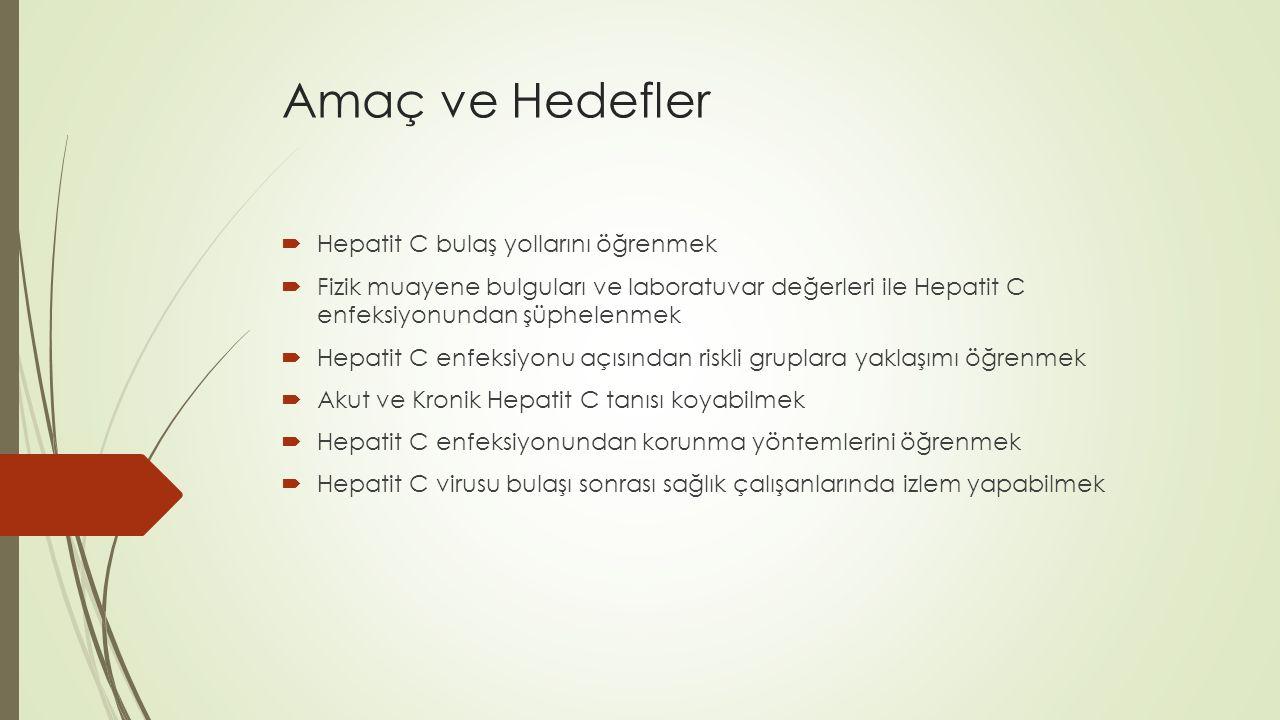HCV  Hepatit C virusu bir RNA virusudur.