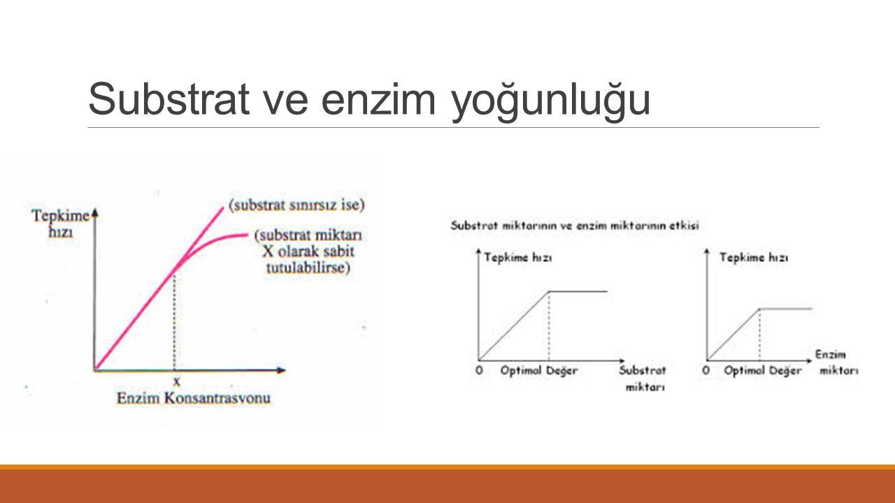 Substrat ve enzim yoğunluğu