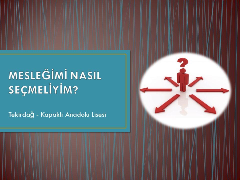 Tekirda ğ - Kapaklı Anadolu Lisesi