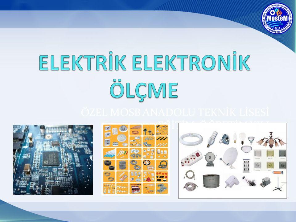 DERSİN AMACI Elektrik Elektronik Ölçme dersinin amaçları; - İlk etapta basit ölçme işlemlerini gerçekleştirebilmek -Elektrik mesleğinde kullanılan El Aletlerini nasıl kullanıldığını öğrenmek - Evimizdeki Lambaların,prizlerin,makinelerin çalışması için elektrik tesisatının evimize nasıl döşendiğini öğrenmek.