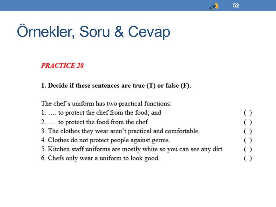 Örnekler, Soru & Cevap 52