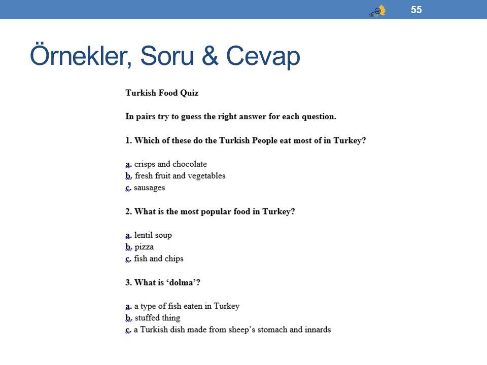 Örnekler, Soru & Cevap 55