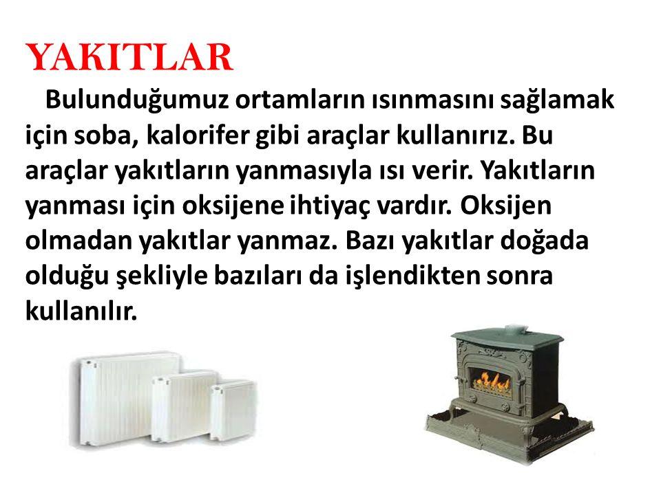 Linyit doğal olarak, petrol ise işlendikten sonra yakıt olarak kullanılır.
