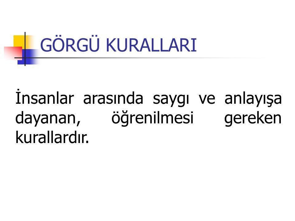 İ- KARŞILAMA VE UĞURLAMA Ankara'da uygulanan Devlet protokol Listesi: 1.