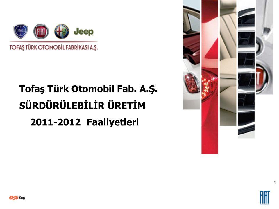 20 Novembre, 2010 1 Tofaş Türk Otomobil Fab. A.Ş. SÜRDÜRÜLEBİLİR ÜRETİM 2011-2012 Faaliyetleri