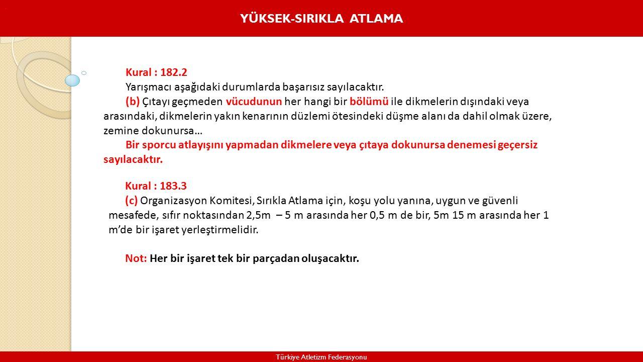 YÜKSEK-SIRIKLA ATLAMA Türkiye Atletizm Federasyonu.