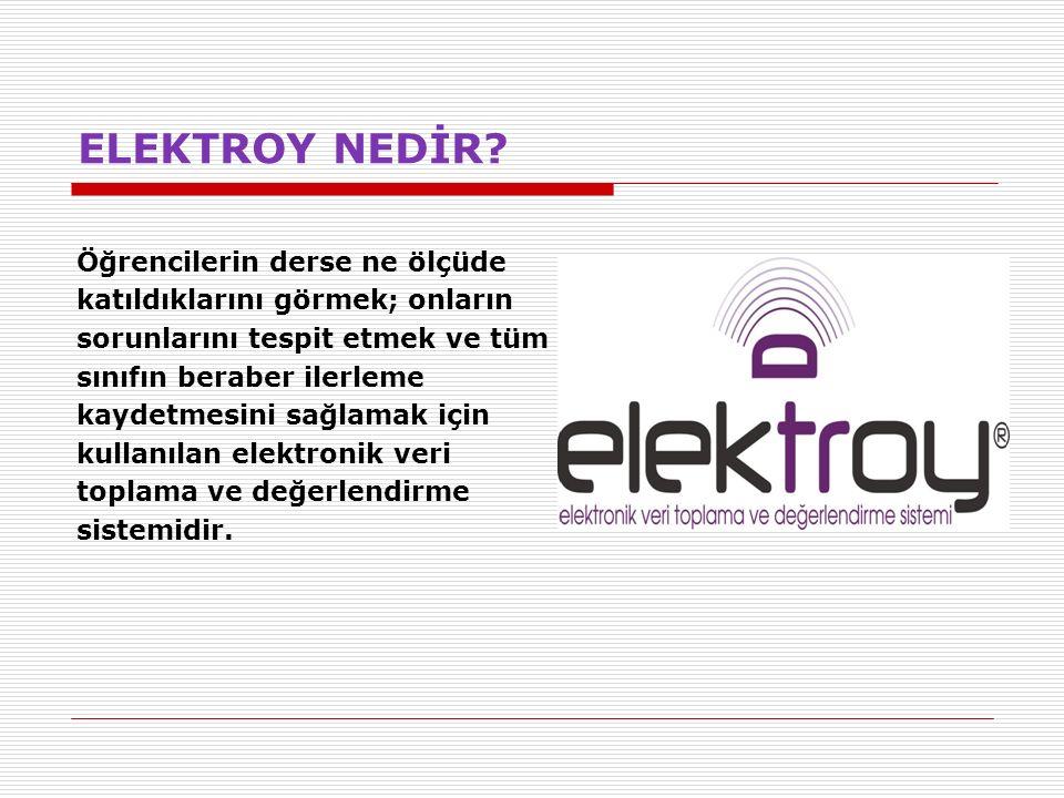 İLİMİZDE ELEKTROY'U KULLANAN KURUMLAR  Türkiye geneli 322 kurum kullanmaktadır.