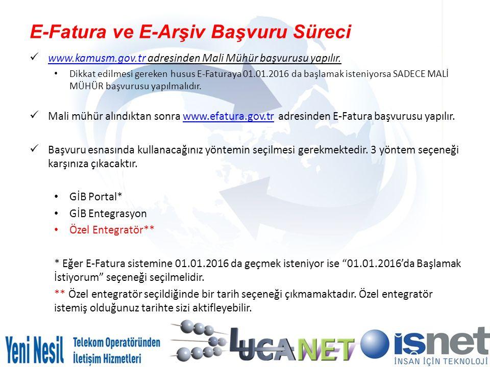 E-Fatura ve E-Arşiv Başvuru Süreci www.kamusm.gov.tr adresinden Mali Mühür başvurusu yapılır. www.kamusm.gov.tr Dikkat edilmesi gereken husus E-Fatura