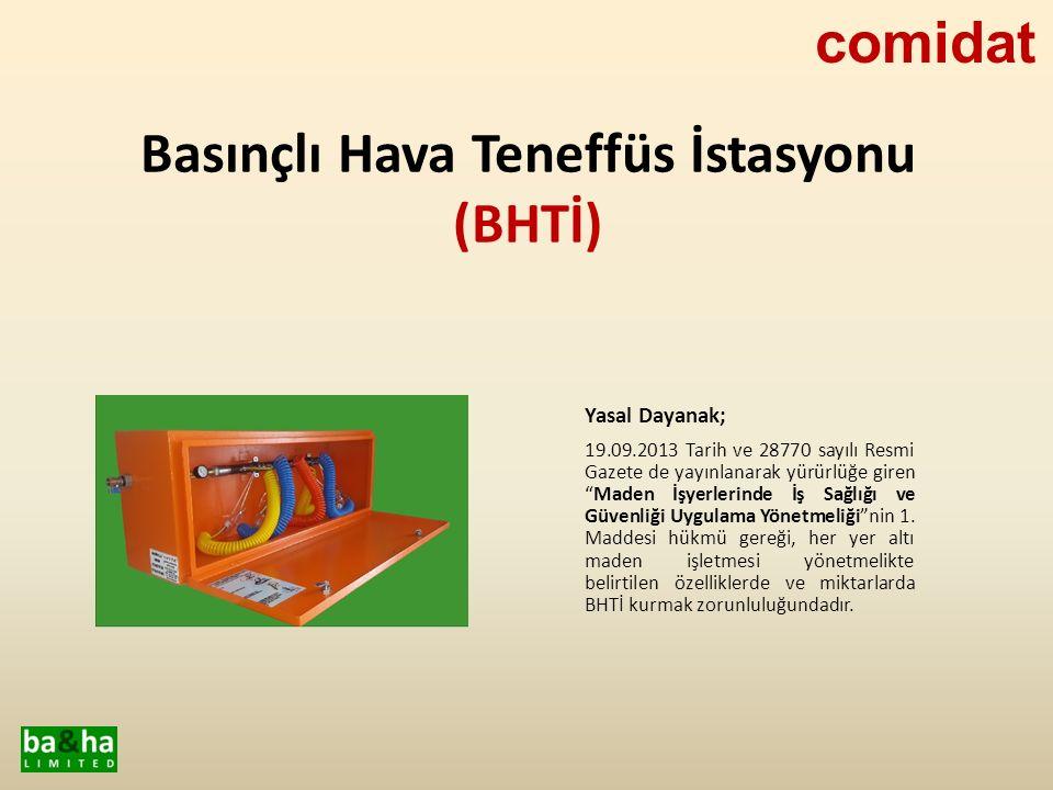 Comidat tarafından üretimi yapılan BHTİ'ler, standart 1.5mm.