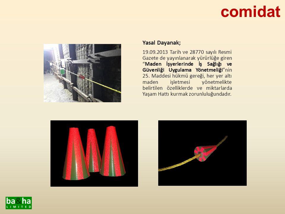 Comidat tarafından üretimi yapılan Yaşam Hattı'nda kullanılanan malzemelerin tamamı, ilgili yönetmelikte açıkça belirtilen, Polipropilen PP malzemeden üretilmiş, yüksek sıcaklığa dayanıklı plastikten imal edilmiştir.