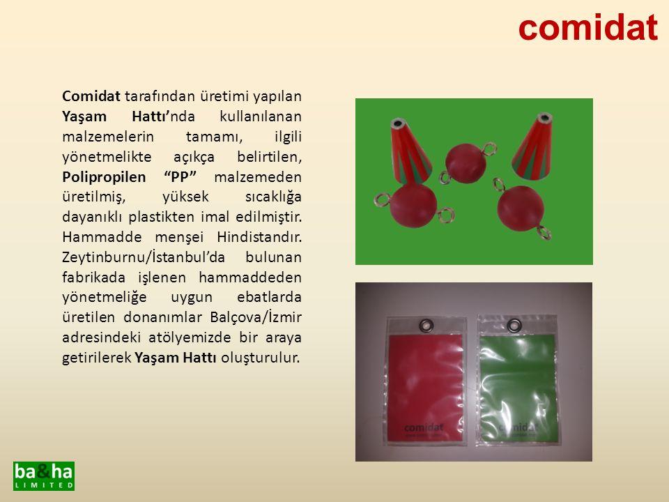 """Comidat tarafından üretimi yapılan Yaşam Hattı'nda kullanılanan malzemelerin tamamı, ilgili yönetmelikte açıkça belirtilen, Polipropilen """"PP"""" malzemed"""