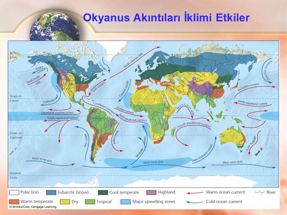Okyanus Akıntıları İklimi Etkiler