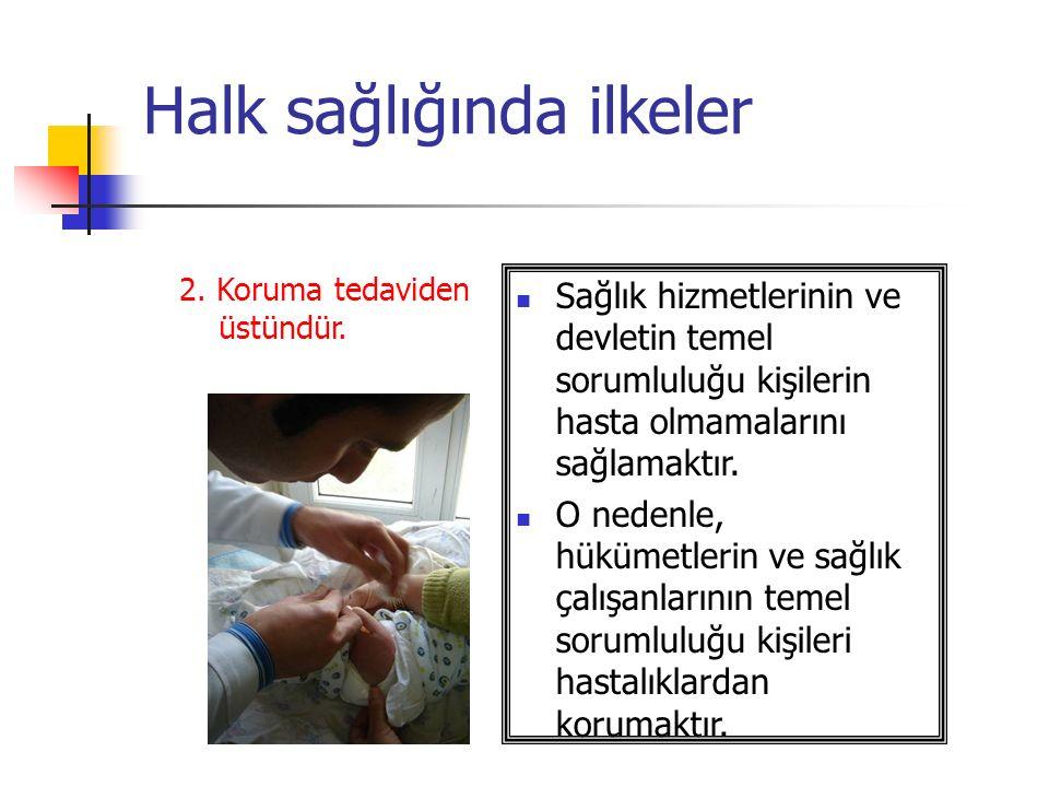 Halk sağlığında ilkeler 2.Koruma tedaviden üstündür.