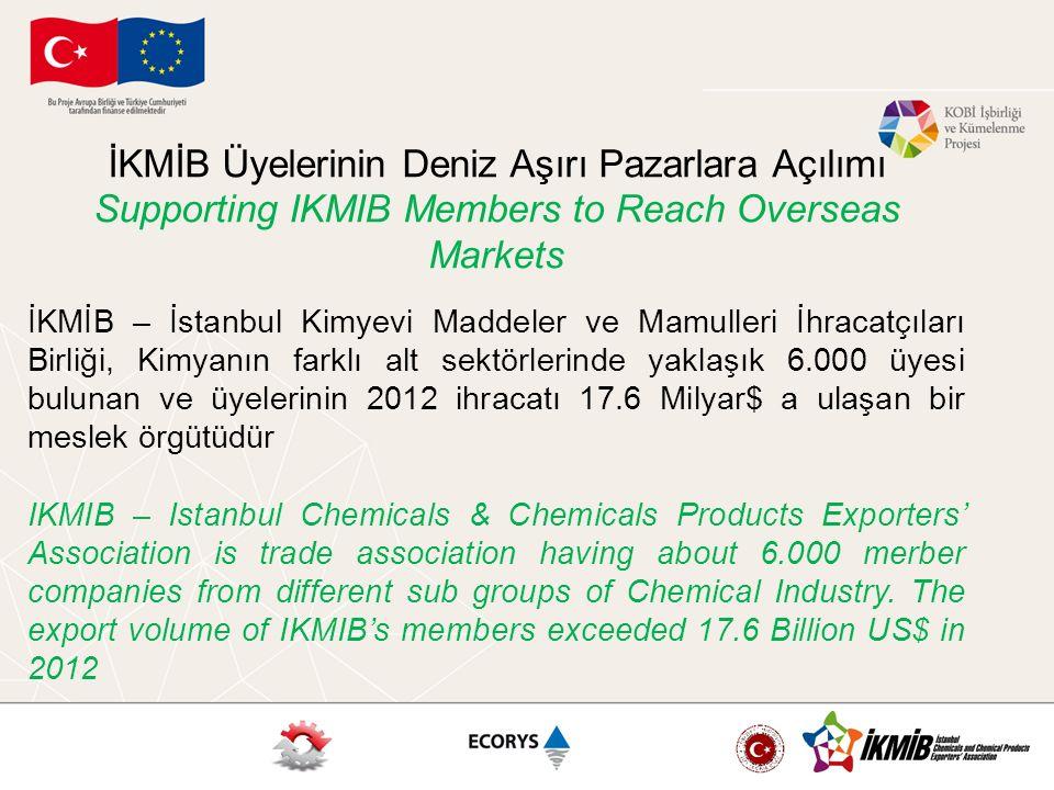 İKMİB – İstanbul Kimyevi Maddeler ve Mamulleri İhracatçıları Birliği, Kimyanın farklı alt sektörlerinde yaklaşık 6.000 üyesi bulunan ve üyelerinin 201